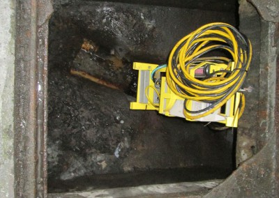 Logger-in-sewer